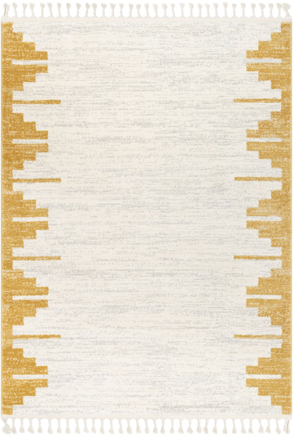 Carly Nordic Solid & Striped Gold Rug