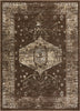 Lila Brown Distressed Vintage Persian Tribal Rug