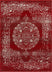 Mora Red Traditional Vintage Persian Distressed Rug 7'10