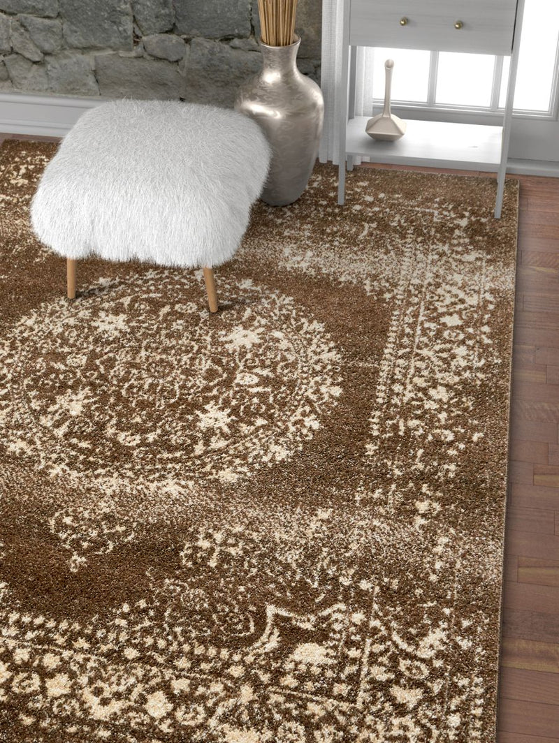 Mora Brown Traditional Vintage Rug