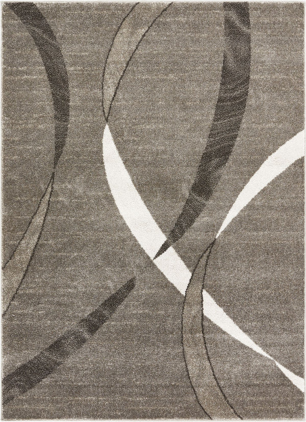 Felicita Grey Modern Lines Stripes Distressed Rug
