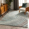 Ucci Blue Modern 3D Textured Shag Rug By Chill Rugs