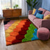 Rainbow Modern Geometric Shag Multi 3D Textured Thick & Soft Shag Rug