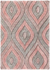 Malibu Blush Modern 3D Textured Shag Rug By Chill Rugs