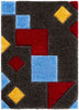 Teahupo Black Modern Geometric 3D Textured Shag Rug By Chill Rugs