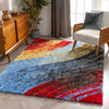 Mojave Red Modern 3D Textured Shag Rug By Chill Rugs