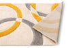 Bevel Yellow Modern Geometric 3D Textured Shag Rug