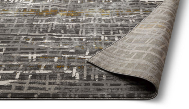 Unimaginable Grey Modern  Rug