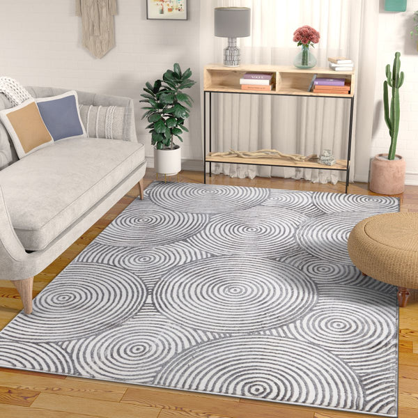 Glee Grey Modern Geometric Rug By Chill Rugs