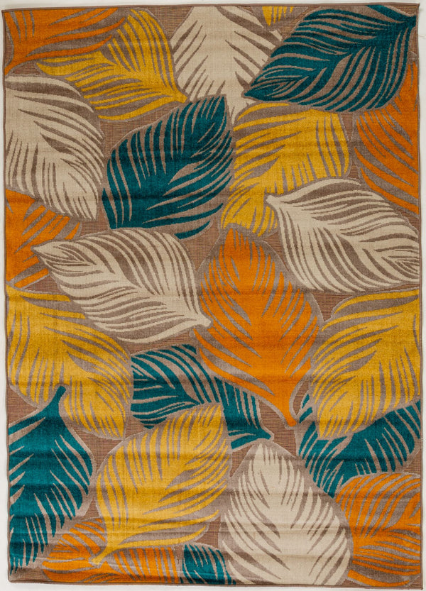 "Sample Sale Multi Leaves 5'3"" x 7'5"" SS-0211 Rug"