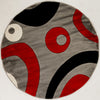 "Sample Sale Red Grey Black White 5'3"" Round SS-0226 Rug"