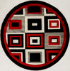 "Sample Sale Red Black White Grey 5'3"" Round SS-0237 Rug"