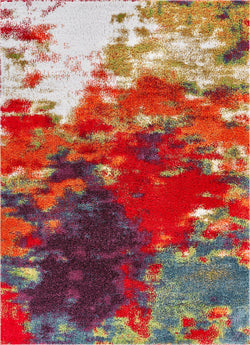 Consta Multi Mid-Century Abstract Shag Rug