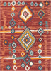 Manzano Red Mid-Century Tribal Diamond Rug