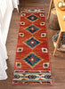Lea Crimson Traditional Southwestern Tribal Rug