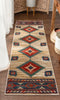 Lea Cream Traditional Southwestern Tribal Rug