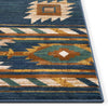 Lea Blue Traditional Southwestern Tribal Rug