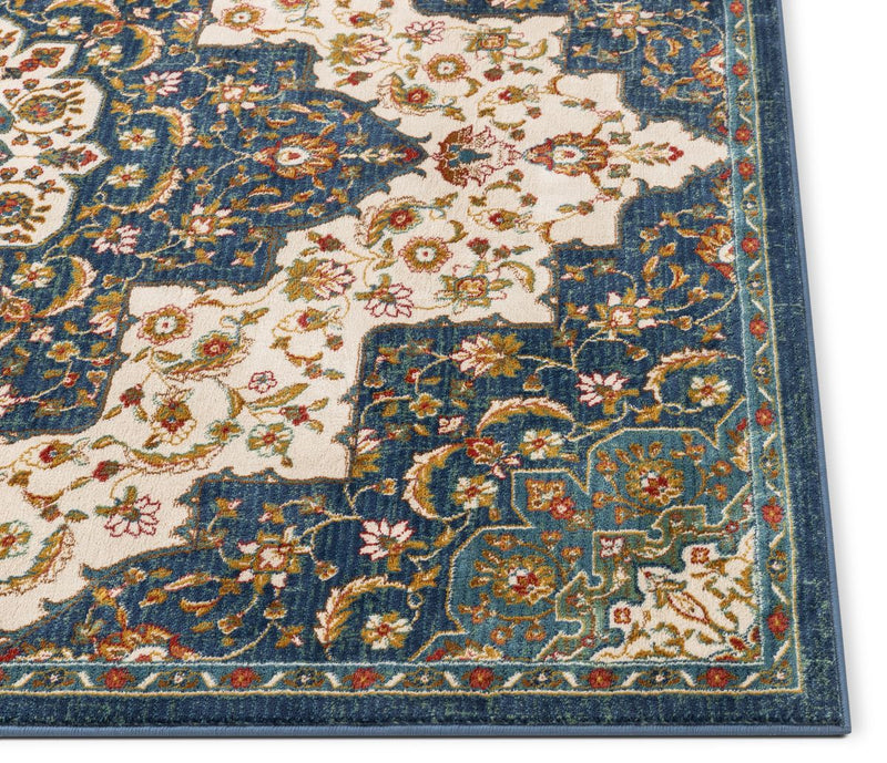 Oracle Blue Traditional Medallion Authentic Rug