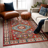 Perry Southwestern Tribal Medallion Bohemian Crimson Rug