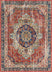 Alisha Crimson Traditional Medallion Distressed Rug