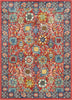 Merve Crimson Traditional Oriental Distressed Rug