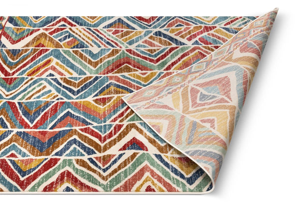 Lana Crimson Modern Abstract Geometric Rug