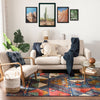 Lara Blue Modern Abstract Geometric Rug