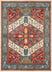 Musta Ivory Traditional Medallion Border Rug