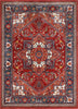 Jackie Crimson Traditional Medallion Tribal Rug