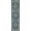 Jackie Blue Traditional Medallion Tribal Rug