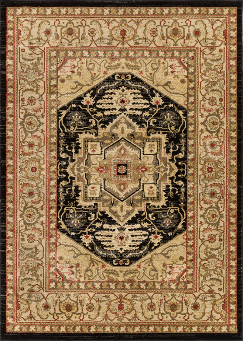 Belukha Black Traditional Rug