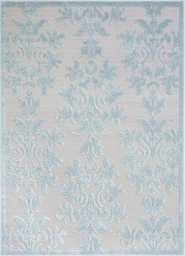 Lea Blue Victorian Floral Rug