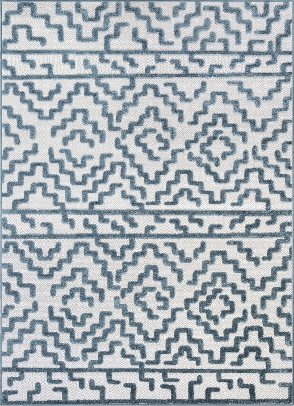 Katrin Blue Contemporary Geometric Rug