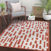 Drago Orange Contemporary Geometric Rug