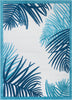 Rada Blue Novelty Botanical Rug