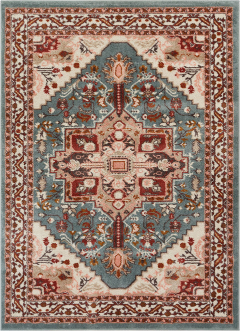 Celesita Blue Traditional Vintage Rug