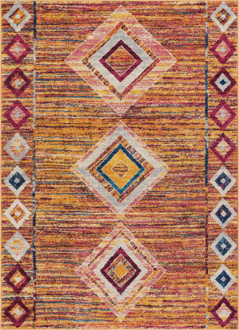 Jasmine Multi Modern Distressed Rug