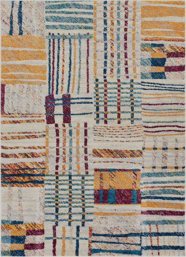 May Multi Modern Geometric Rug