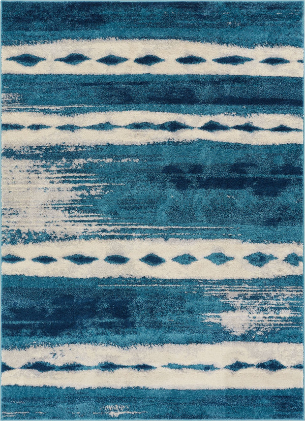 Holborn Blue Modern Abstract Rug