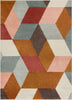 Chancery Multi Modern Abstract Rug
