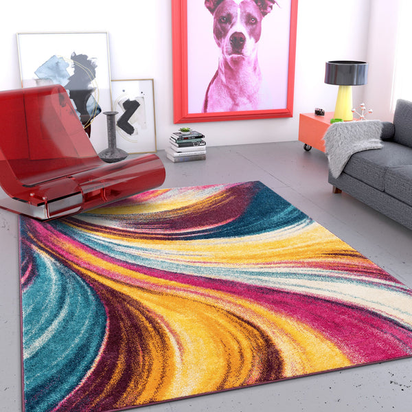 Tratto Multi Modern Bright Rug