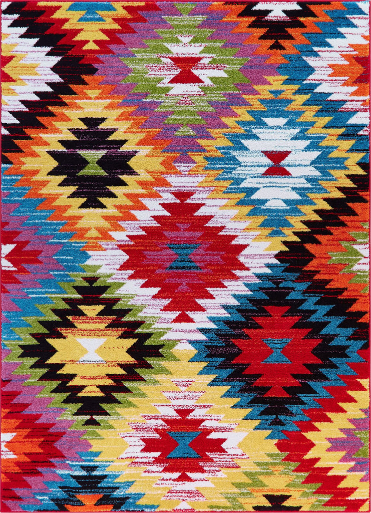 Joy Multi Modern Tribal Rug
