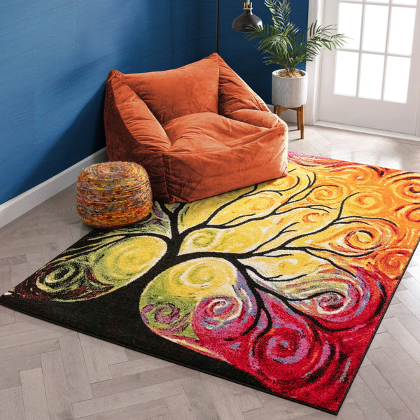 Finese Multi Modern Bright Rug