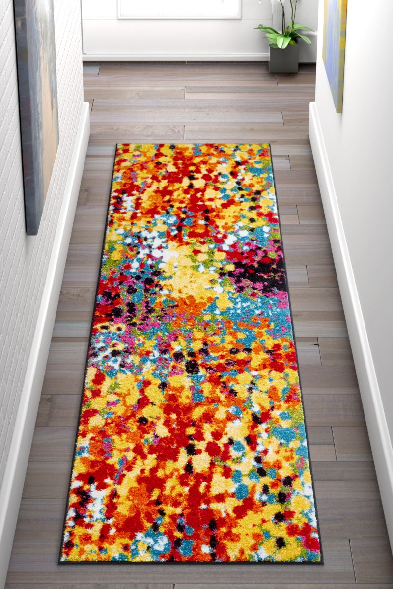 Partridge Multi Modern Bright Abstract Rug