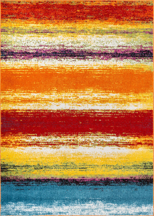 Unbelievable Multi Modern Bright Rug
