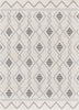 Matilda Cream/Grey Modern Tribal Diamond Rug