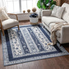 Milo Blue Modern Paisley Antique Rug