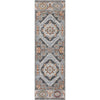 "Argo Bohemian Aztec Tribal Grey Flatweave High-Low Rug 5'3"" x 7'3"""