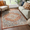 Torri Traditional Persian Red-Rust Flatweave High-Low Rug