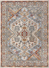 Pavia Traditional Aztec Tribal Ivory-Beige Red Flatweave High-Low Rug